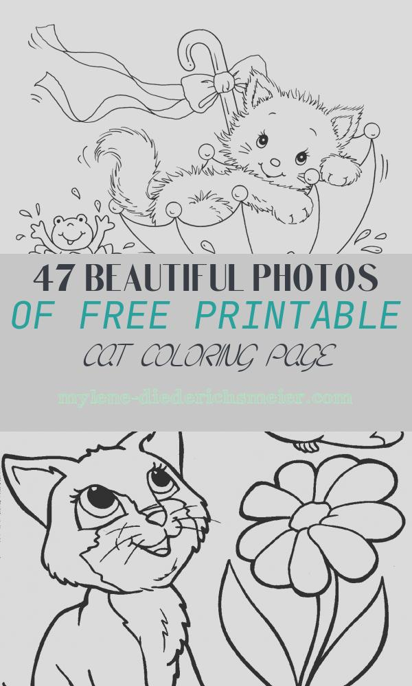 Free Printable Cat Coloring Page Beautiful Free Printable Cat Coloring Pages for Kids