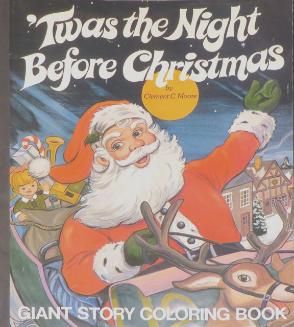 twas the night before christmas giant story coloring book