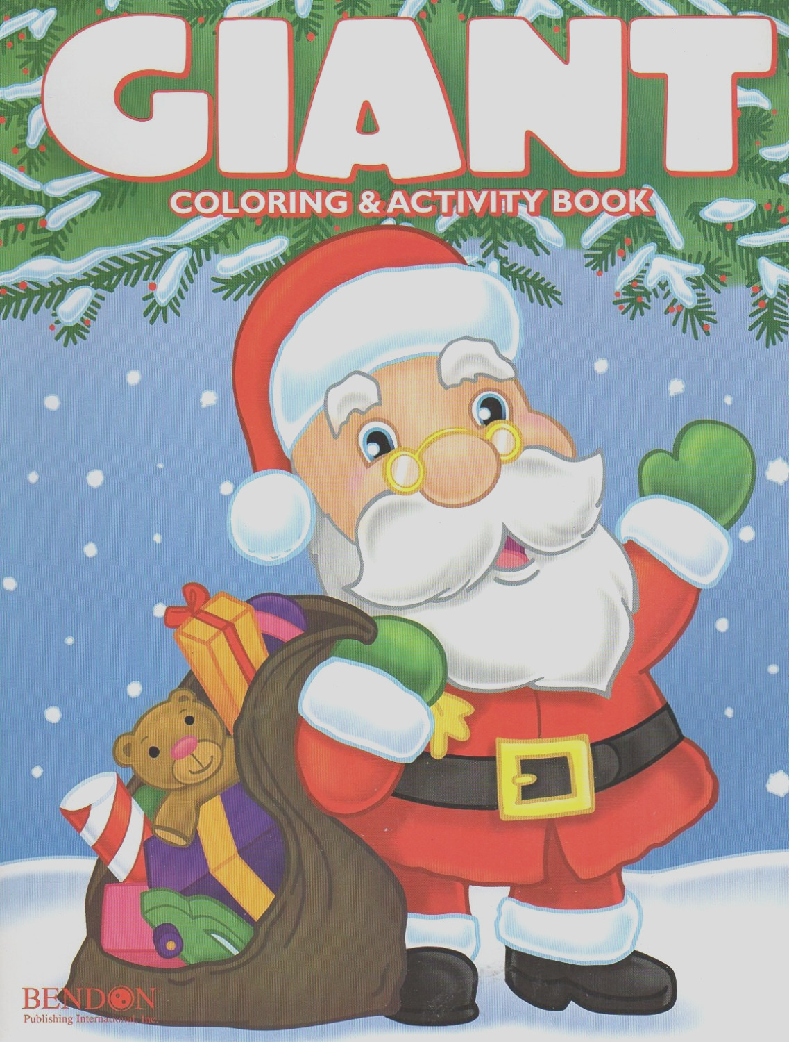 christmas edition giant coloring and activity