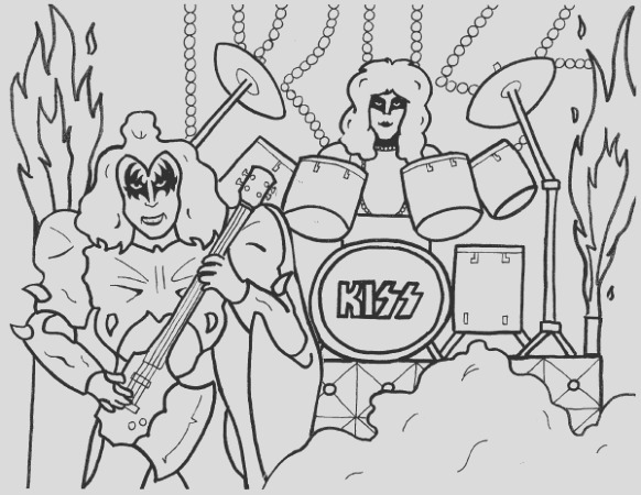 gene simmons eric carr coloring page i=6&s=1