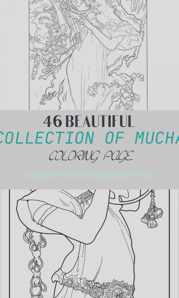 Mucha Coloring Page Fresh Spring by Alphonse Mucha Coloring Page