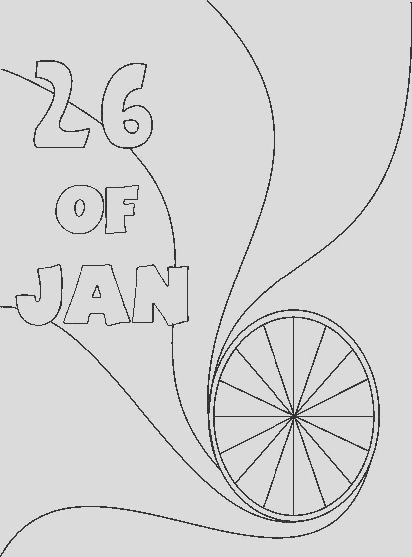 3239 Republic day India coloring pages
