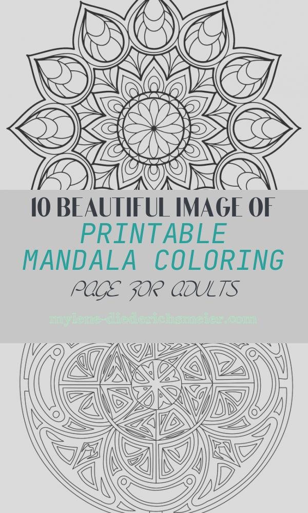 Printable Mandala Coloring Page for Adults Inspirational Magnificent Mandala From Free Coloring Book for Adults