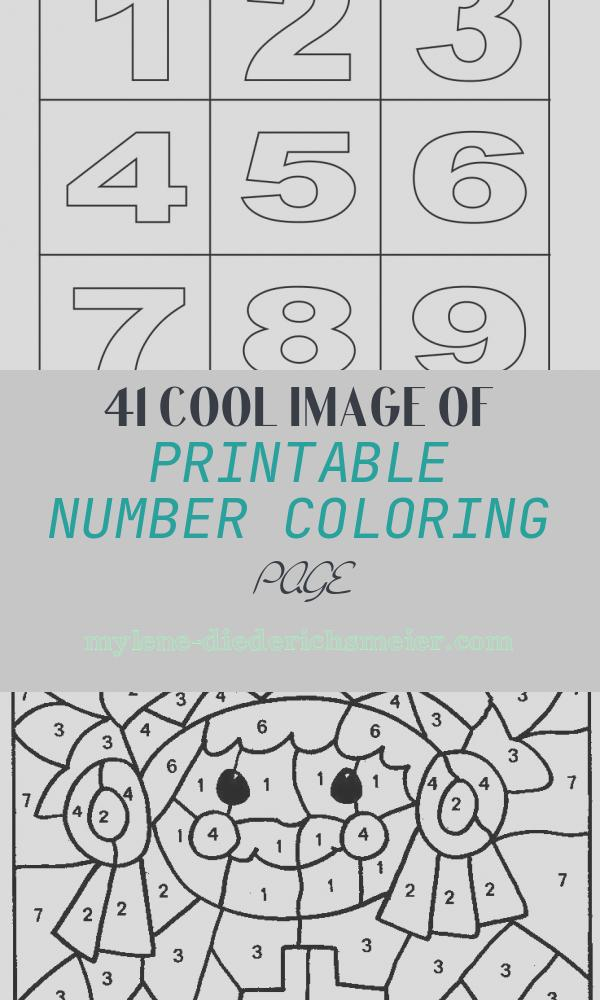 Printable Number Coloring Page Fresh Free Printable Number Coloring Pages for Kids