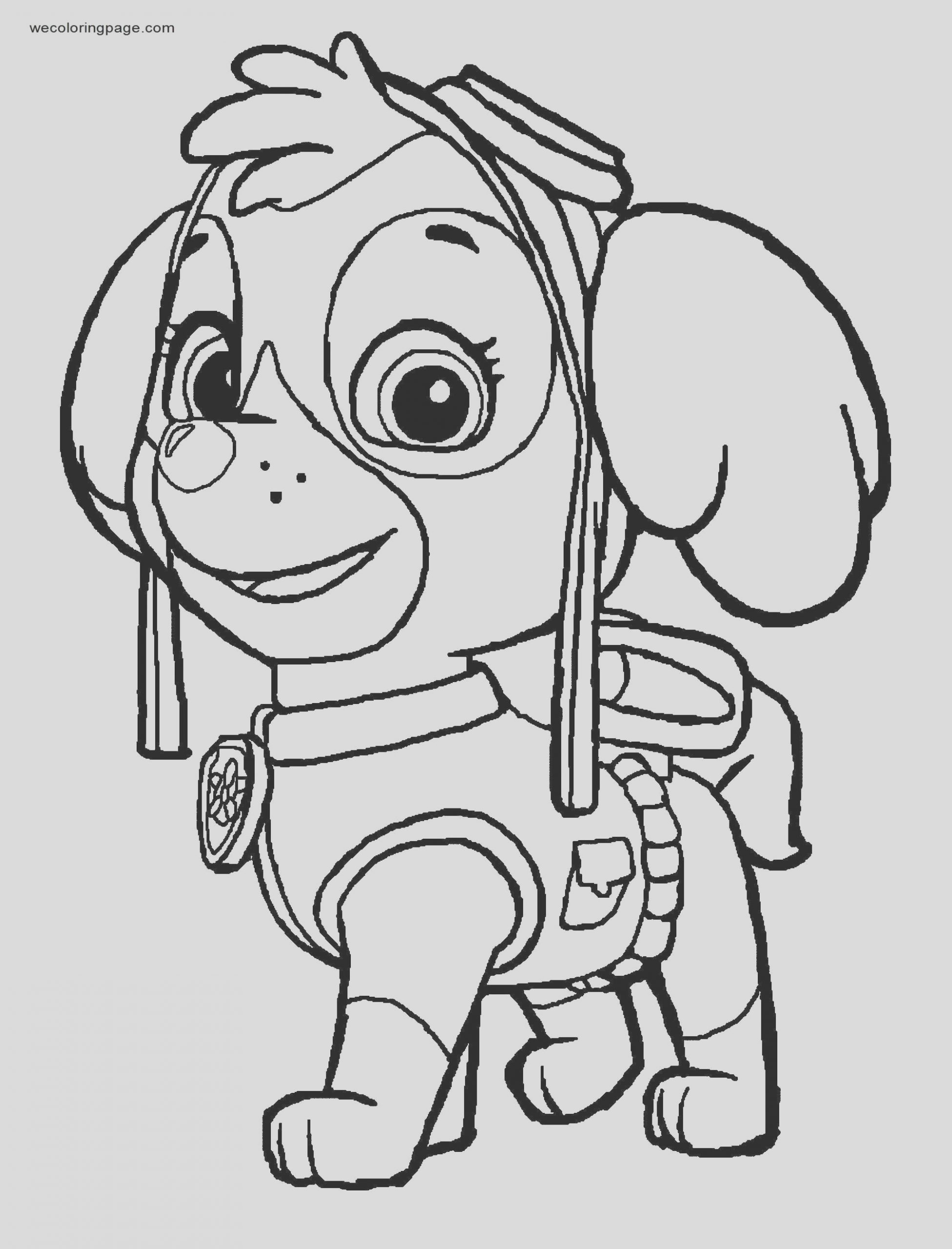 skye aviation pup paw patrol coloring page