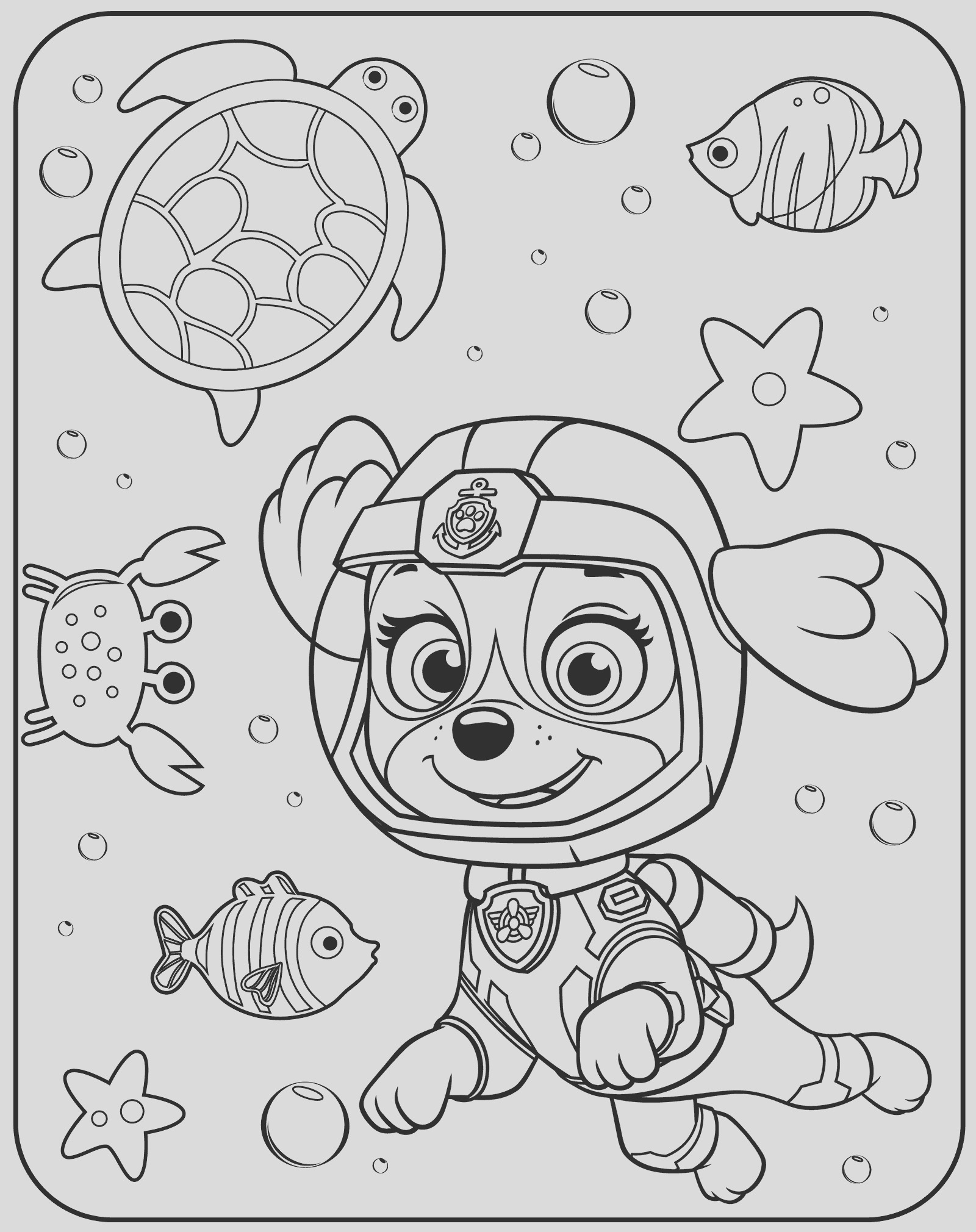 pup patrol coloring pages