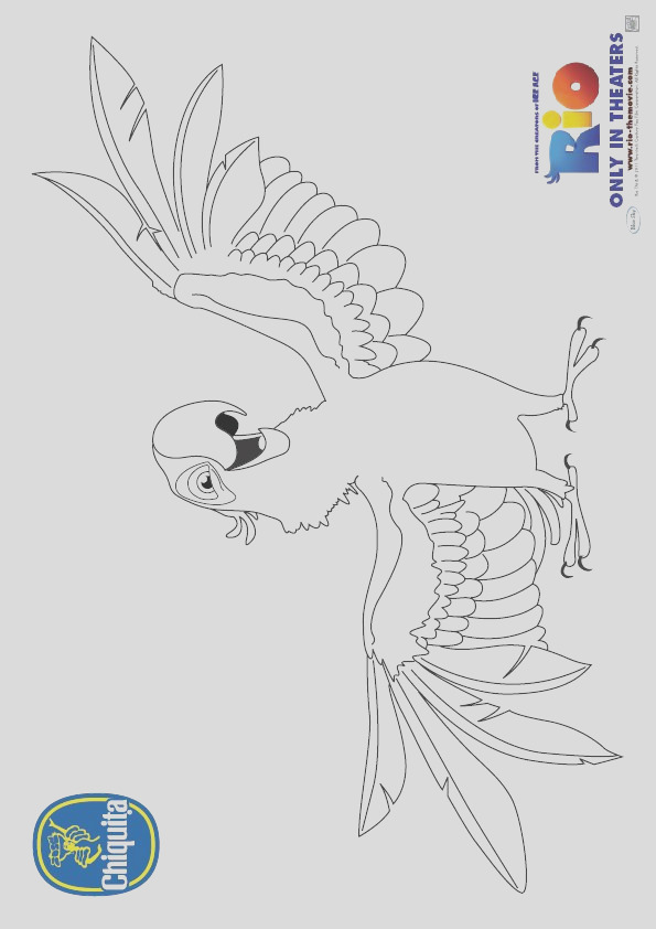 blu from rio coloring page