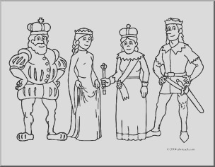 clip art royal family coloring page i abcteach