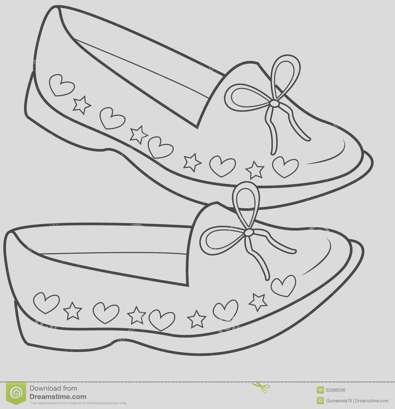 stock illustration lady s shoes coloring page useful as book kids image
