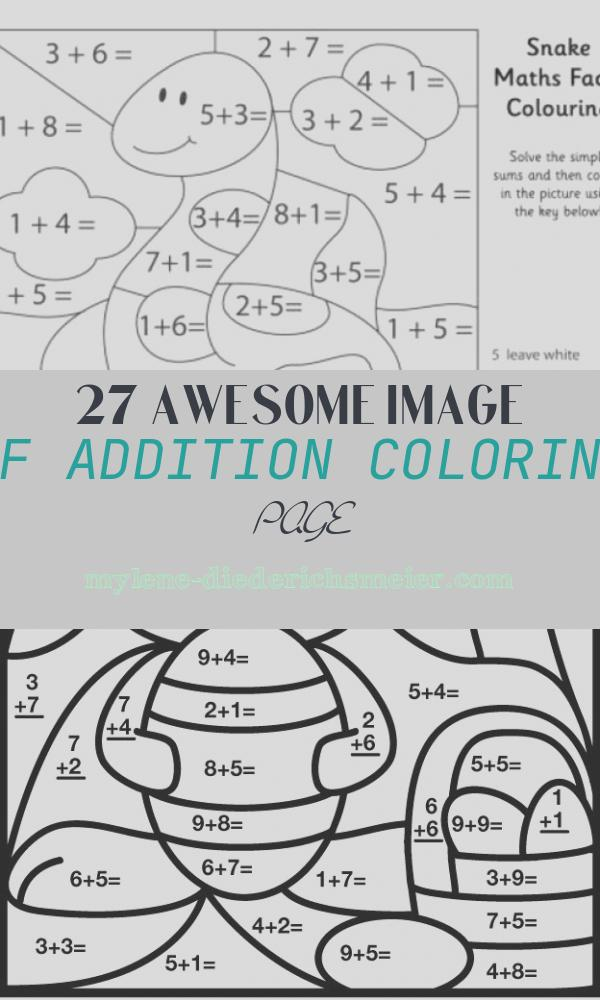 Addition Coloring Page Luxury Color by Number Addition Best Coloring Pages for Kids