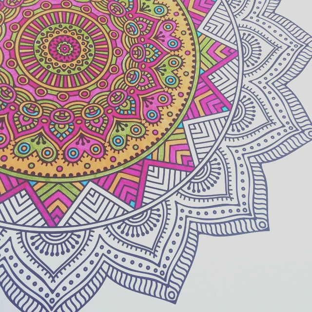 finished coloring pages for adults