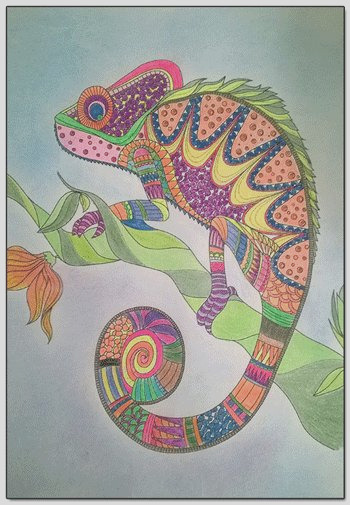 finished coloring pages
