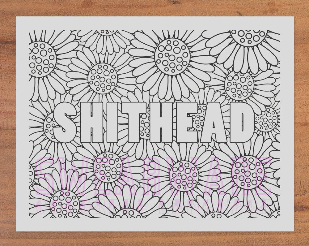 shithead swear word coloring page