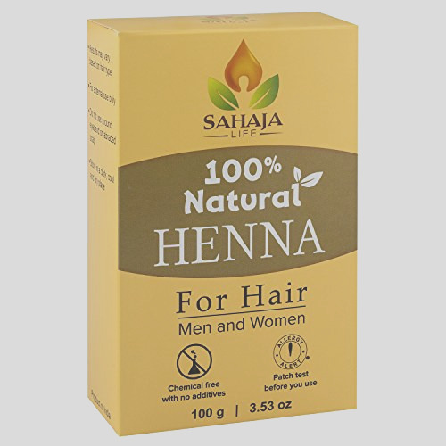 pure henna hair dye powder 3 53 oz all natural high pigment color for hair root touch up beard and eyebrows on men and women includes bonus prep methods guide