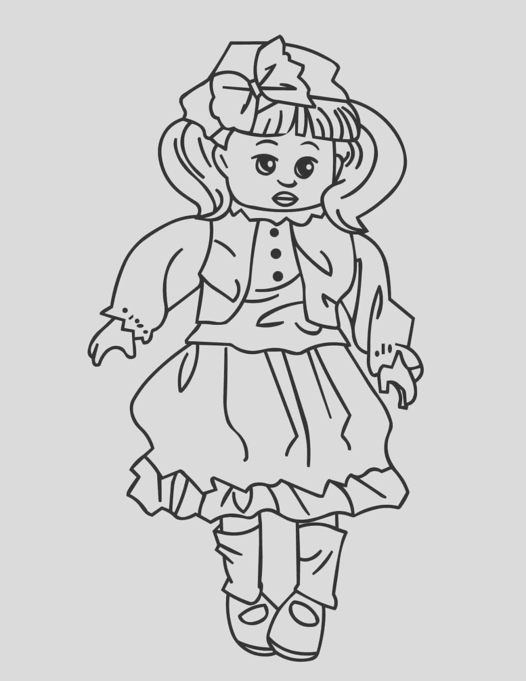 printable american girl doll coloring pages for kids
