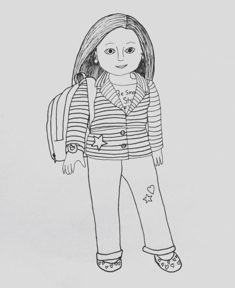 printable american girl coloring pages online gvjp21