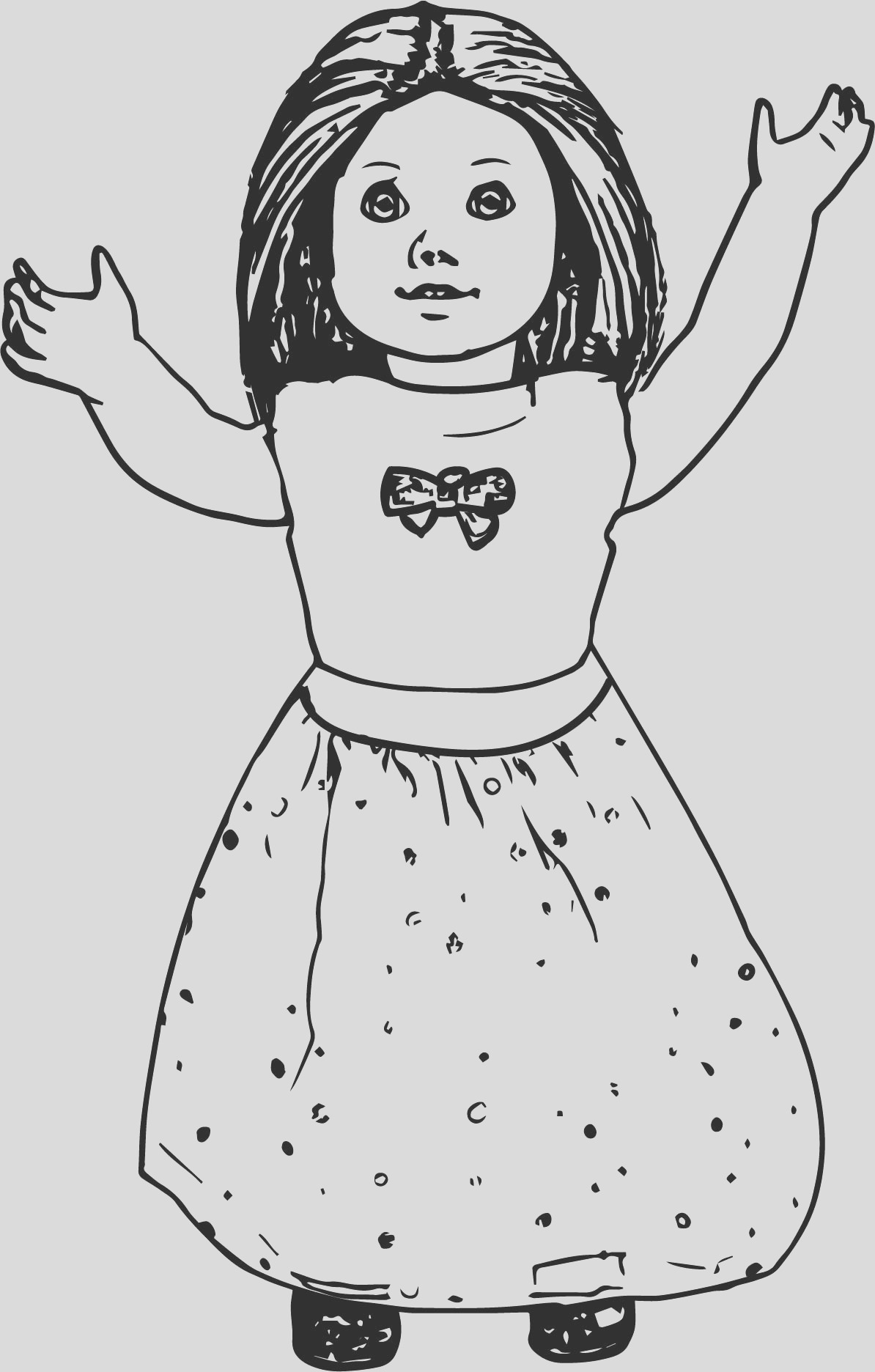 american girl doll toy coloring page