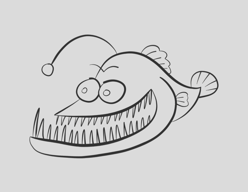 open mouth coloring page