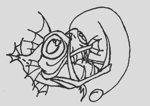 angler fish is very ugly fish coloring pages