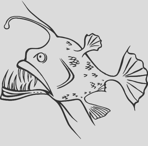 angler fish silly shaped coloring pages
