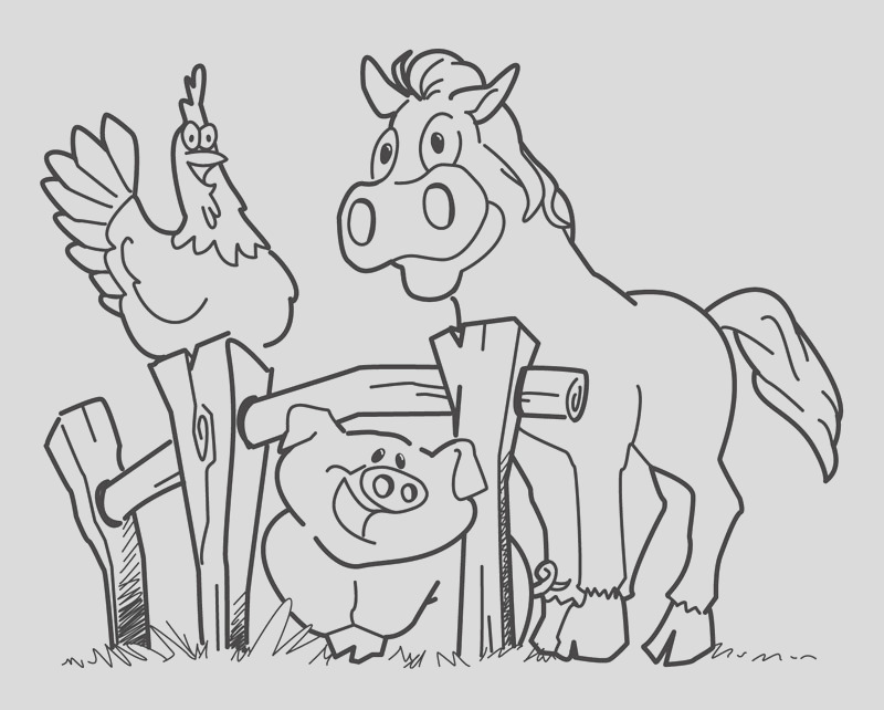 farm animal coloring pages