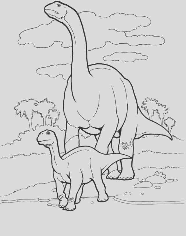 brontosaurus coloring pages