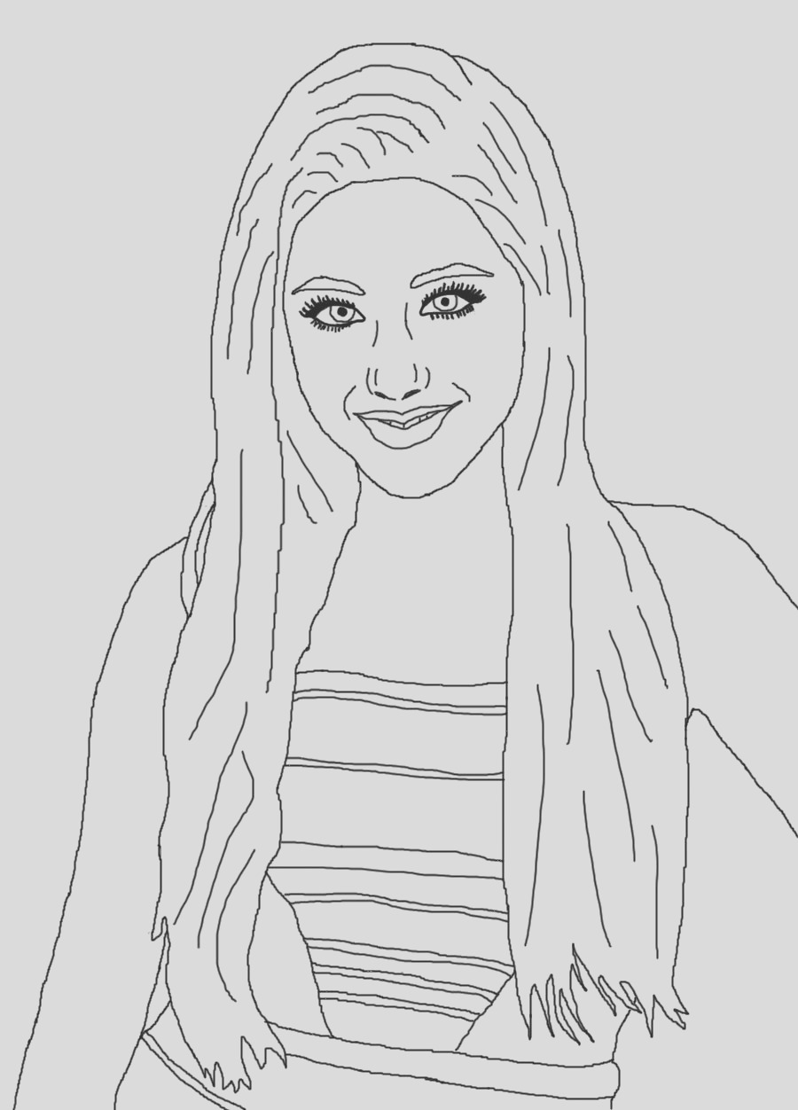 ariana grande coloring pages online sketch templates