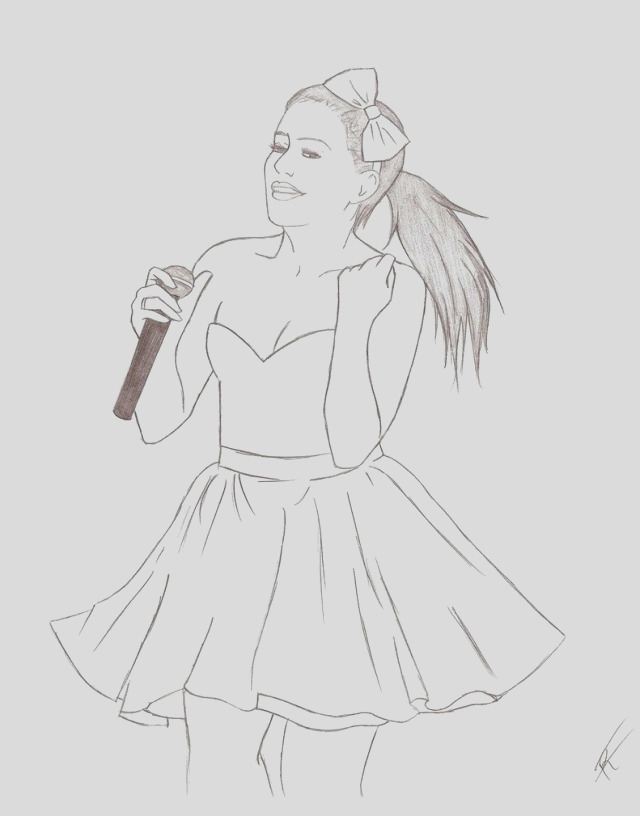 marvelous photo of ariana grande coloring pages