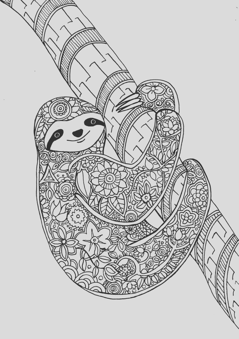 flower sloth a page from my new art therapy