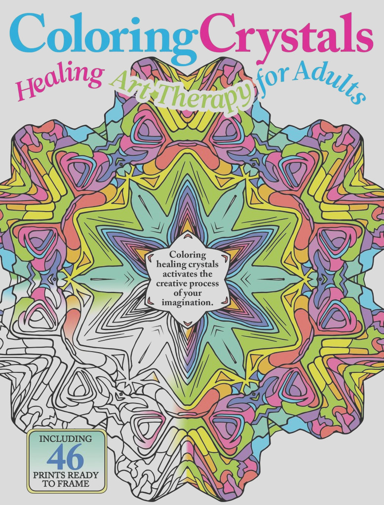 coloring crystals healing art therapy for adults 1