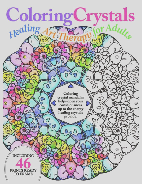 coloring crystals healing art therapy for adults