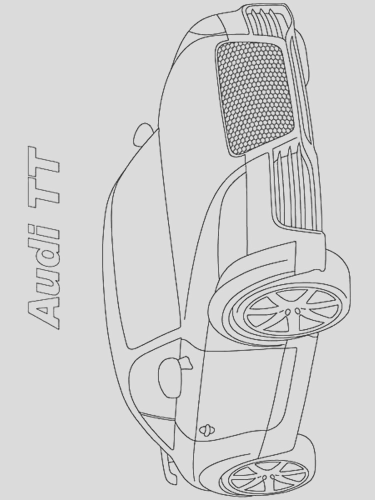 audi coloring pages