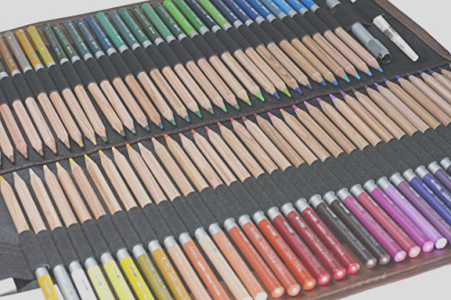 jnw direct watercolor pencils best water soluble colored pencil set for adult coloring books and all color pencil art includes 72 different luxury colors with bonus canvas case and accessories