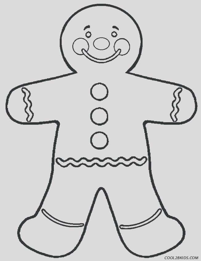 gingerbread man and woman coloring pages