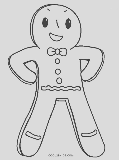 blank gingerbread man coloring pages to print sketch templates