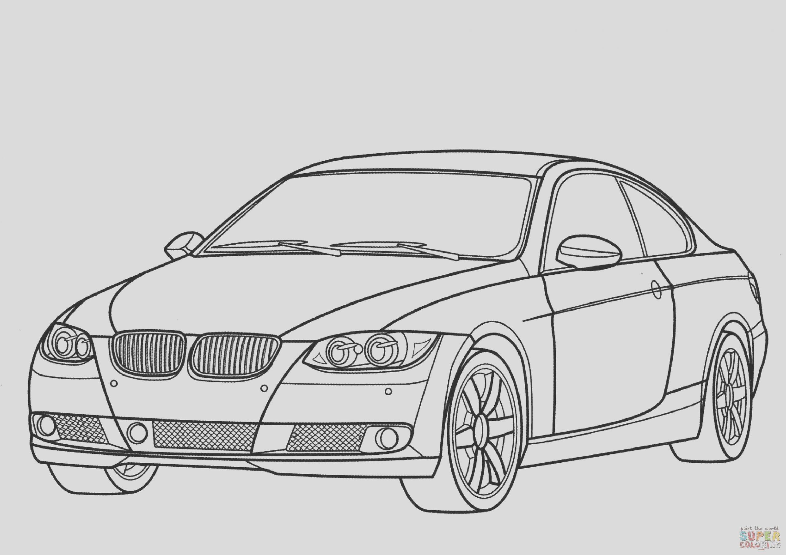 coloring page of bmw m3