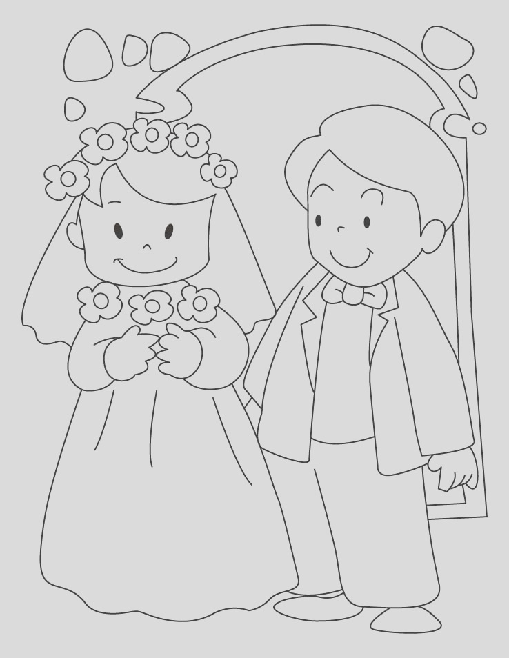 bride and groom coloring pages 1d3713