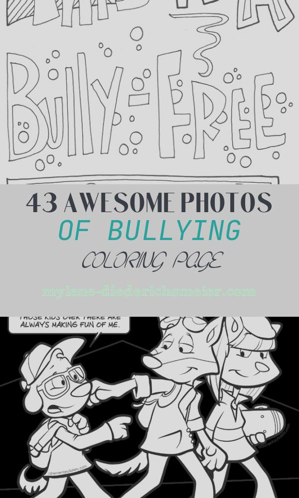Bullying Coloring Page New No Bullying Coloring Pages Classroom Doodles