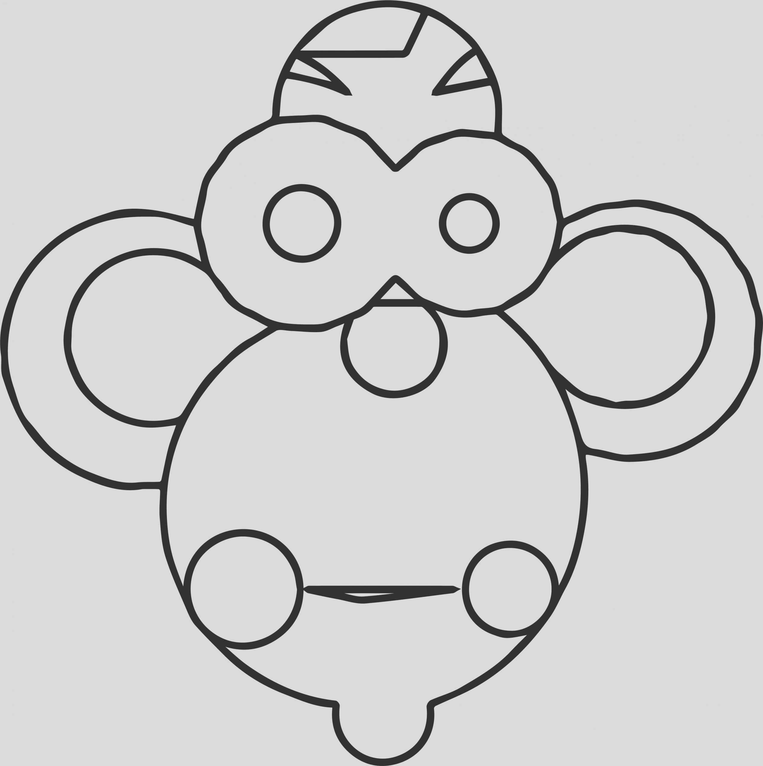 cartoon monkey coloring page