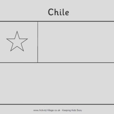chilean flag printable coloring page chilean flag