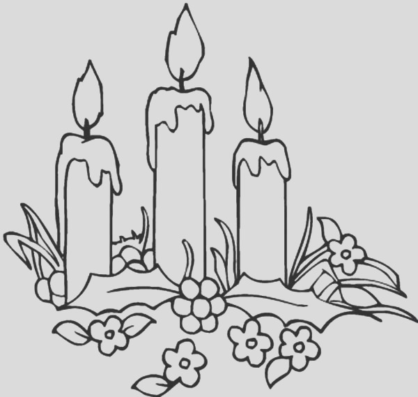 decorating christmas candle coloring pages