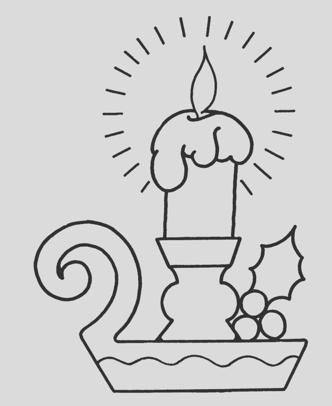 candles coloring pages