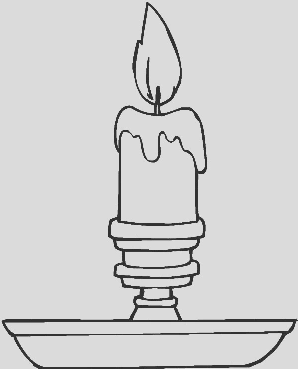 simple christmas candle coloring pages