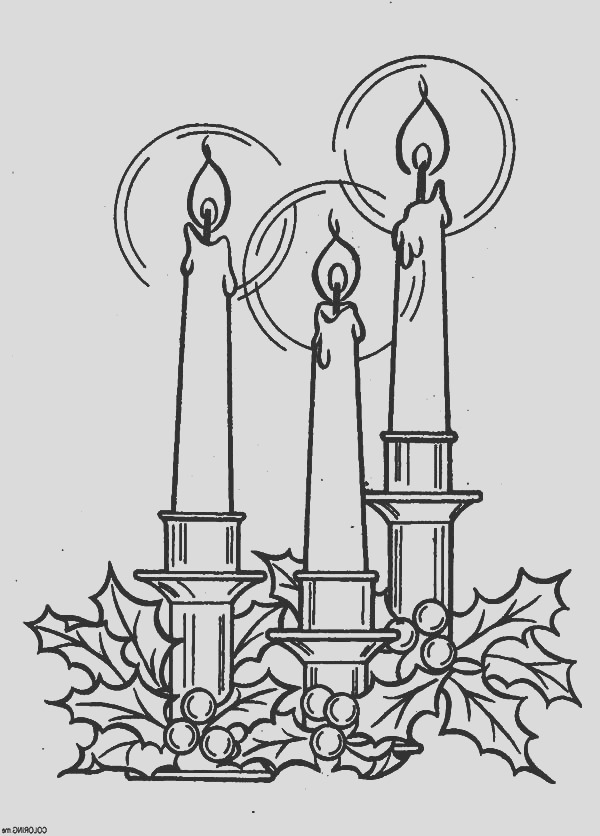 the star of bethlehem christmas candle coloring pages