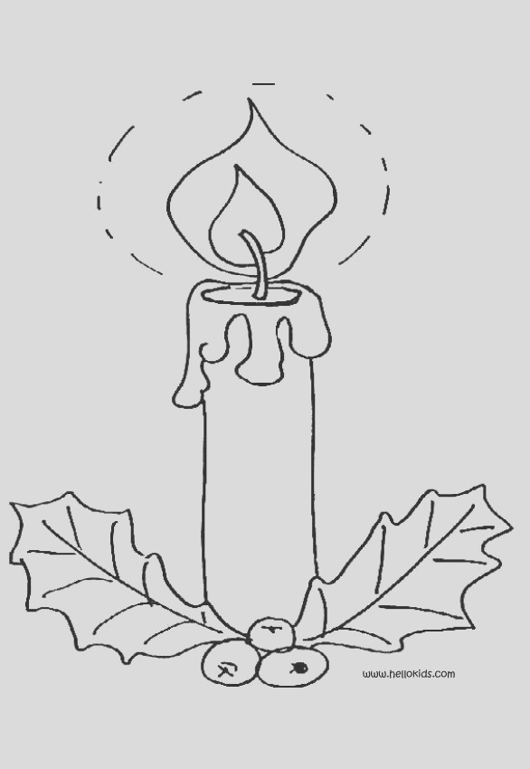 lighted candle and holly