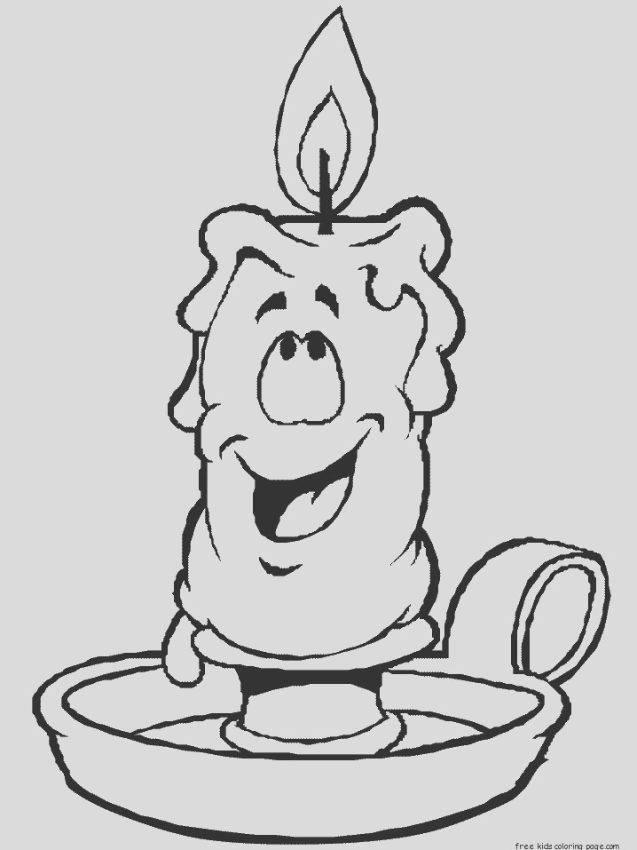 christmas candles coloring pages for kids