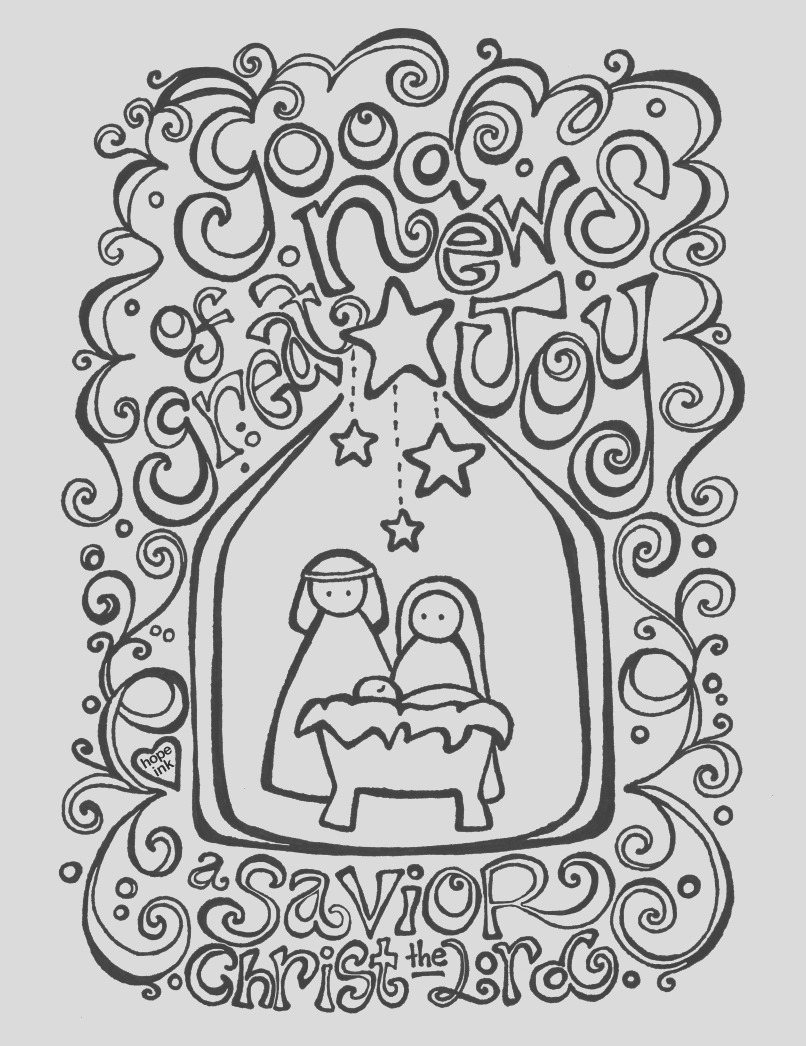 free nativity coloring page coloring activity placemat