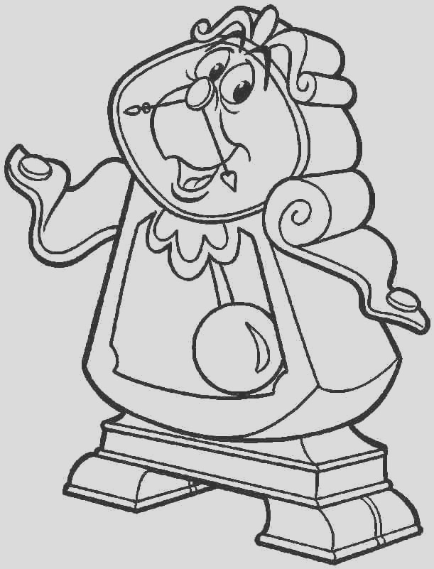 cogsworth coloring page sketch templates