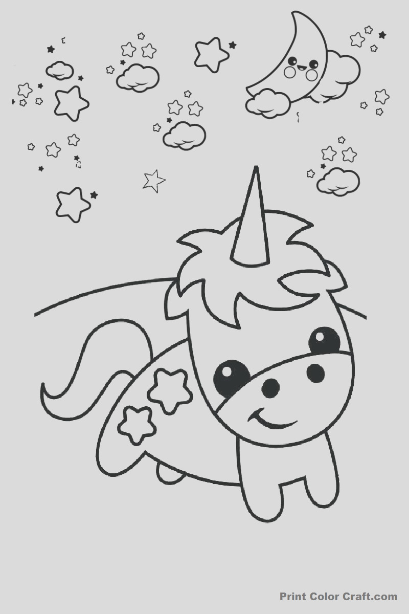 easy draw and cute unicorn coloring pages for kids