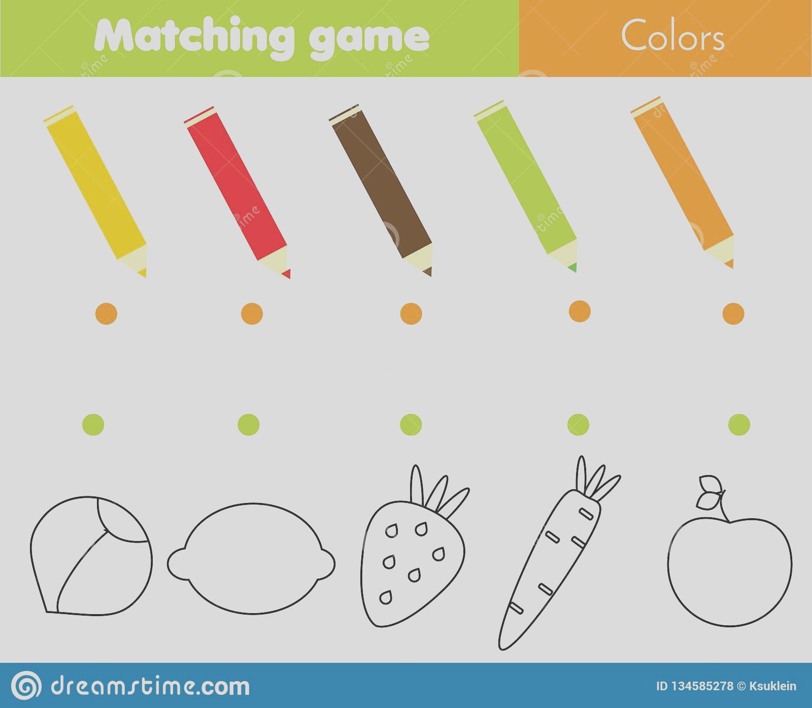 matching educational children game match ve ables fruits color activity pre school kids toddlers learning image